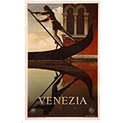 Venice VINTAGE TRAVEL POSTER AM Cassandre ITALY 1951 24X36 exquisite!
