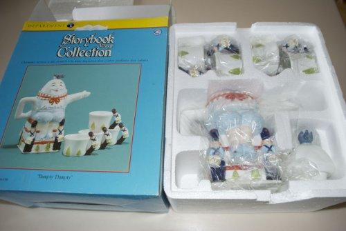 Department 56 Storybook Village Collection Humpty Dumpty Ceramic Tea Set