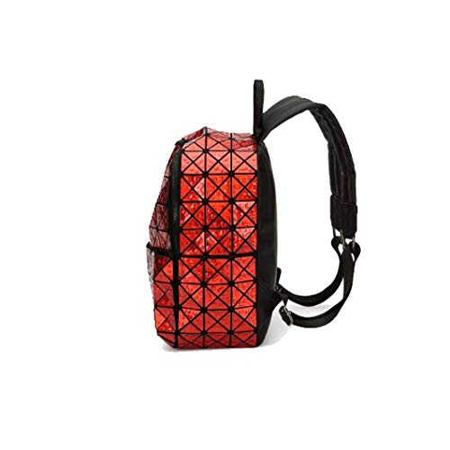 Trend Form Reisen Große Einfachheit Mode Geometrische Red Rucksack Kapazität Frauen Yxpnu qAxYT4O