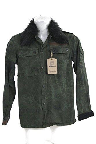Militare Oversize Taglia Giacca E Rigenerata Personalizzata Washed Camouflage Trashdeluxe qfT0855