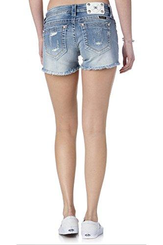 Miss Me Distressed Cutoff Shorts 26 Light ()
