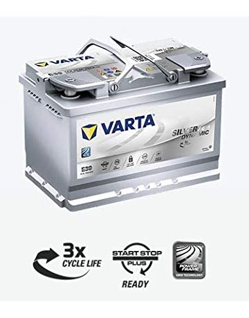 Bateria coche VARTA E39 Silver Dynamic Start Stop Plus AGM 12V 70Ah 760A positivo derecha diseñada