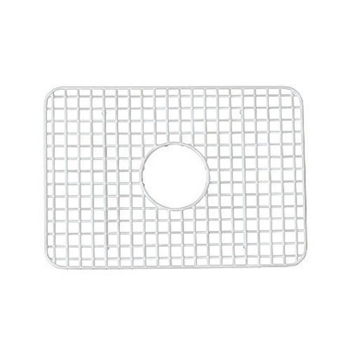 Rohl WSG2418WH 14-9/16-Inch by 20-7/16-Inch Wire Sink Grid for RC2418 Kitchen Sinks in White Abcite Vinyl