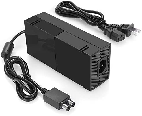 Xbox One Power Supply [2021 Enhanced Quieter Version] Xbox Plug AC Adapter Charger with Power Cord Best for Charging – Brick Style – Great Charger Accessory Kit with Cable