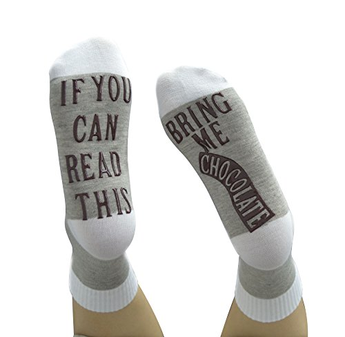 Cotton Wine Socks If You Can Read This Bring Me A Glass of Wine Socks NON Slip Gift Idea for Women Men (Gray Chocolate Non-slip - See Me Glasses