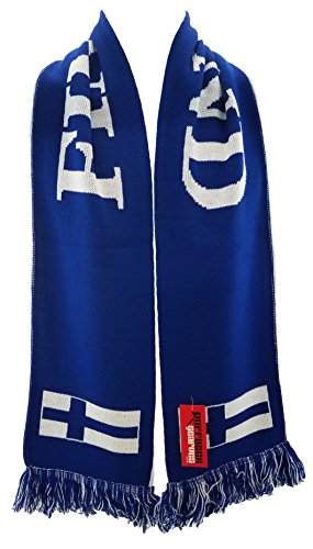 RUFFNECK National Soccer Team Finland Scarf, Blue, One Size