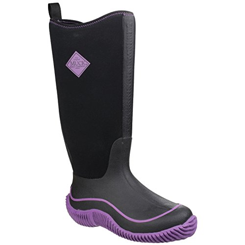 Boots Ladies 5 Blue Wellies Womens Black On Muck Pull US Hale Harbor qSwq1
