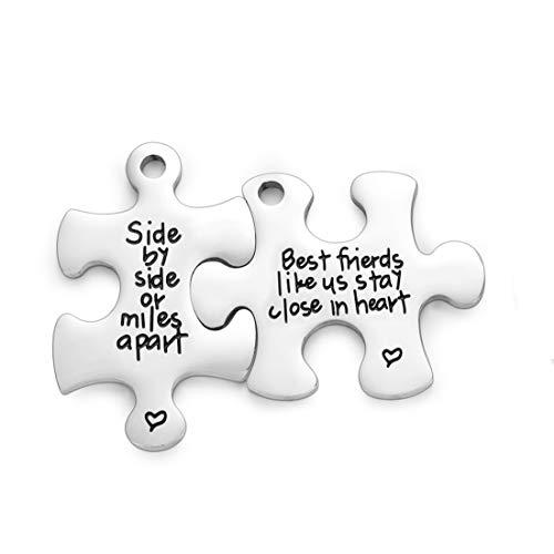 Best Friend Keychain Set Side By Side Or Miles Apart Friendship