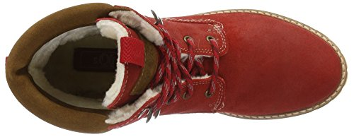 s.Oliver Damen 26239 Combat Boots Rot (DARK RED 509)
