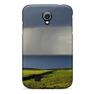 New CJPdhBn6500GPsnP Rain On Fields At The Seacoast Skin Case Cover Shatterproof Case For Galaxy S4