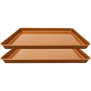 Amazon Com Gotham Steel Nonstick Copper Cookie Sheet And