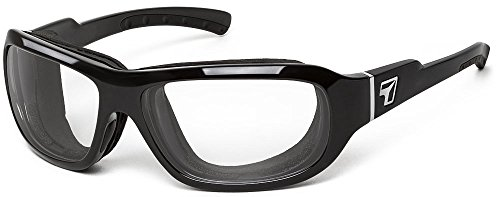 (7eye by Panoptx | Buran | Wind Blocking Foam Sunglasses - Clear Night Driving Lenses + Perferct for Motorcycle Riding, Cycling, Dry Eyes, Outdoor)