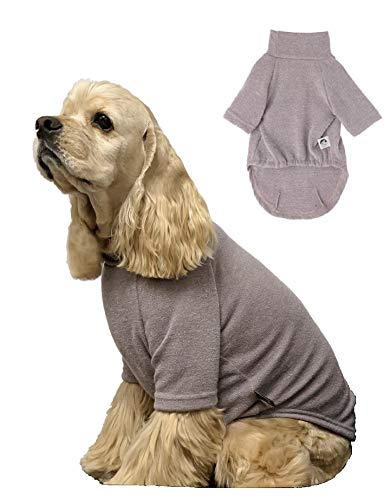 - DoggieWork Cozy Pet Normal& Standard Look Collections - Inside and Outside Outfit, Dog Sweater, Sweatshirt, Scarf, Hair Clips, Throw Blanket or Unisex Shirt, Big Dog Stretch Outfit. (5XL, Grey)