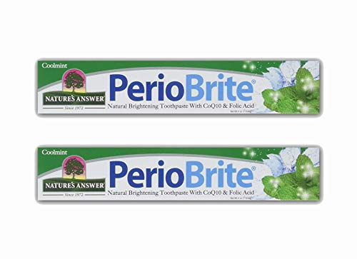 Nature's Answer PerioBrite Natural Toothpaste, Cool Mint, 4-Ounce (Pack of 2)