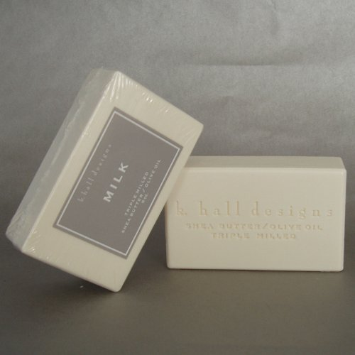 (K Hall Milk Milled Triple Milled Shea Butter Soap 8 oz )