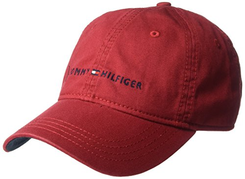 93bf661584a Tommy Hilfiger Men s Logo Dad Baseball Cap