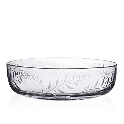 William Yeoward Crystal Jasmine (Fern cut's) Large Serving Centerpiece Bowl