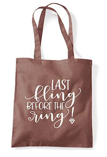 Party Tote Before Ring Fling Last The Bag Chestnut Engagement Statement Shopper qxRfBCUnw
