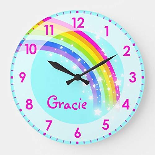 - DoreenAbe Classic Wood Clock, Non Ticking Clock 12