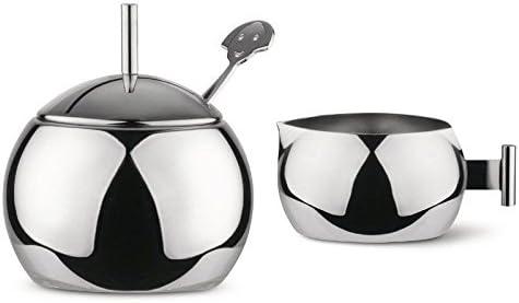Alessi Kristiina Lassus Design Series Stainless Steel Sugar Bowl /& Creamer Set