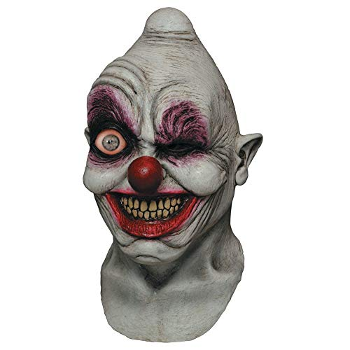 Digitally Animated Crazy Eye Clown Head Mask]()