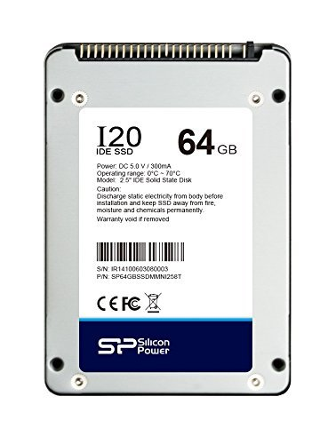 64GB Silicon Power SSD-I20 2.5-inch IDE/PATA SSD Solid State Disk (9mm, Toshiba 19nm MLC Flash) by Silicon Power
