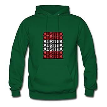 Lightweight Chic Custom Sweatshirts Cotton Austria Text Logo Design X-large Women Green