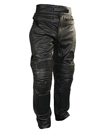 Xelement B7466 Mens Black Armored Cowhide Leather Racing Pants - 38
