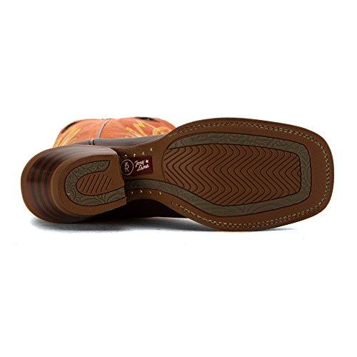 Cowboy Chocolate Tony Boots Lama Orange Women's 3r2401l XqxxtwRBf