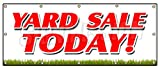 48''x120'' YARD SALE TODAY BANNER SIGN household tools new used furniture toys
