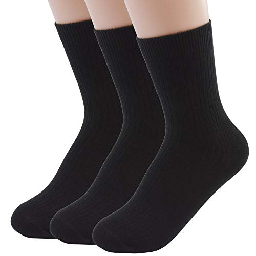 - VIVIKI Women Socks, Super Soft Combed Cotton Socks, Plain Ankle Socks 3 Pack (Black)