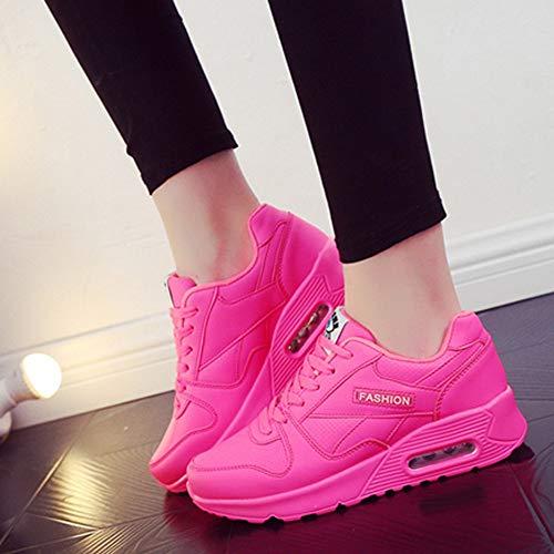 Wohnungen Pink Damen Stiefel Outdoor Sneaker Wanderschuhe Milktea Damen up Schuh Schuhe Freizeitschuhe Mode Damen Lace schuhe xvHwwZ