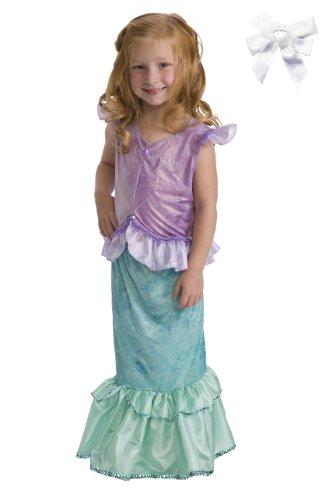 Little Adventures 11243 Mermaid Princess Dress Up Costume Ages 5-7 + Hair Bow (Best Mermaid Costume)