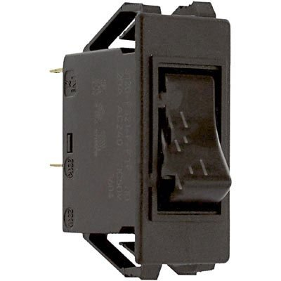 E-T-A Circuit Protection and Control 3120-F321-P7T1-W01D-20A , Circuit Breaker; Therm; Rocker; Cur-Rtg 20A; Snap-In Frame; 2 Pole; Blade Snap