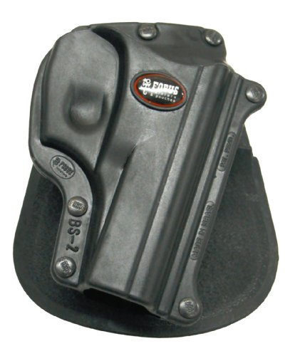 Fobus Tactical BS-2 RT Standard Right Hand Conceal Carry Polymer Roto Paddle Holster For Bersa Thunder 380 - Black