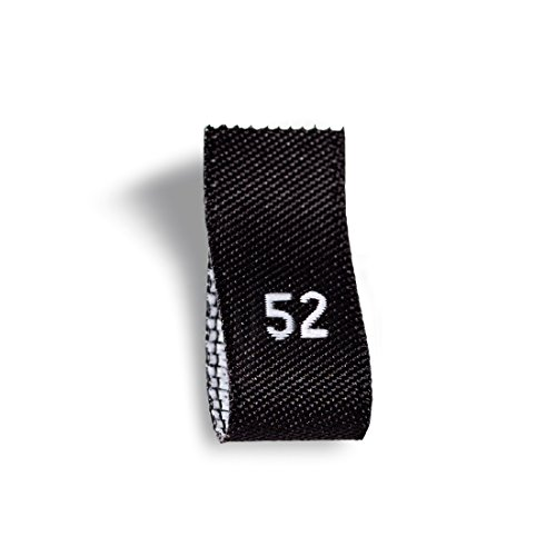 Wunderlabel Adult Size Label Woven Crafting Craft Art Fashion Ribbon Ribbons Tag for Clothing Sewing Sew Clothes Garment Fabric Material Embroidered Label Labels Tags, White on Black, S52, 100 Labels by Wunderlabel