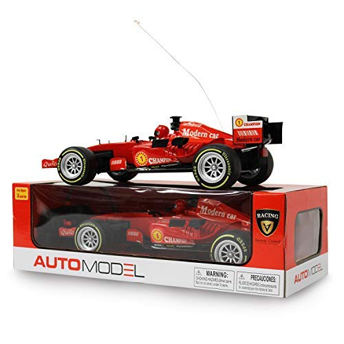 F1 Champion Ultrasonic Speed Model 27mhz Modern Car, Remote Control Racing Car with Fast Acceleration Forward Reverse Gearbox, Left/Right Turning, Doing Donuts in 360° for Boy 3 Years Plus (Red)