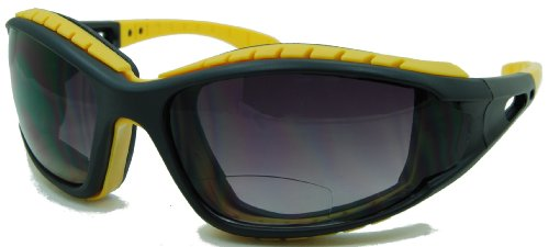 In Style Eyes Sportify, Nearly No Line Bifocal Sunglasses Rugged Eyewear for any Outdoor Activity/Yellow/2.00 - For Sun Goggles Men