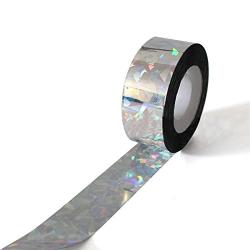 MF2FLAY 262 Feet Bird Repellent Scare Tape, Reflecting Holographic Deterrent Ribbon Stops Damage And Deters Pests (80M-2.5CM) DREAM SUN