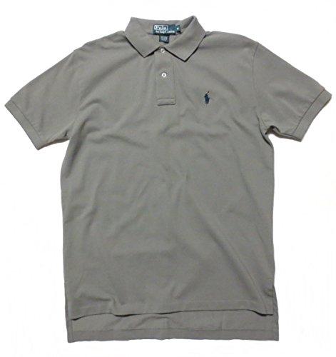 Pique Shirt Sleeve Sport (Polo Ralph Lauren Men's Polo Shirt, Pique Cotton, Classic Fit (X-Large, Grey / Navy Pony))