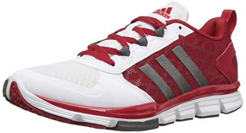 Adidas Originali Mens Maniaco X Carbon Mid Cross Trainer Power Rosso / Carbonio Met. Bianca