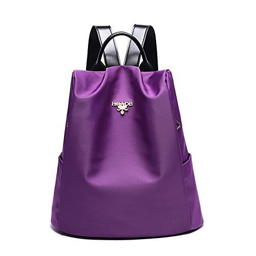 XSBAO Mochila Mochila Antiarboda Salvaje Lady Travel Casual, Gris Purple