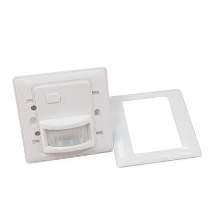Sharplace 220V Interruptor Infrarrojo de Movimiento de Llámpara de PIR - Blanco