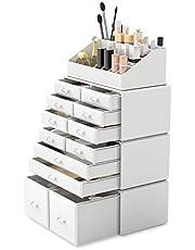 Readaeer Makeup Cosmetic Organizer Storage Drawers Display Boxes Case with 12 Drawers