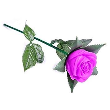 Amazon.com: Flores artificiales y secas – Rosa romántica al ...