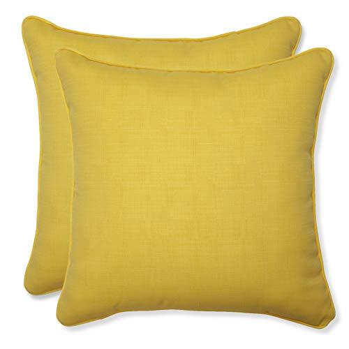 Pillow Perfect Outdoor Fresco Yellow Throw Pillow, 18.5-Inch, Set of 2