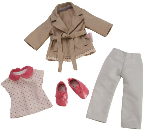 Corolle Y7421 - Puppenkleidung - Les Chéries, Set Trenchcoat, 33 cm