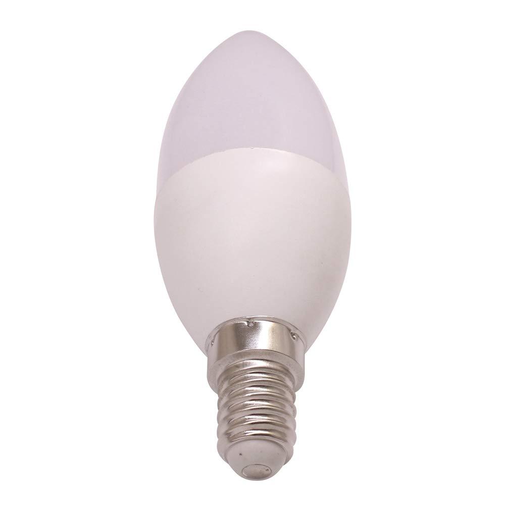 Bombilla LED de vela E14, 12 V CC, 24 V, C35, voltaje seguro, 12 V CC, 24 V, 3 W, 30 W, halógena, bombillas de candelabro, 350 lm, blanco cálido, ...