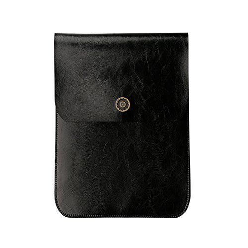 Microfiber Leather Envelope Synthetic Leather Carrying Sleeve, Unique Envelope Pouch / Bag Design Amazon Kindle Cases and Covers black