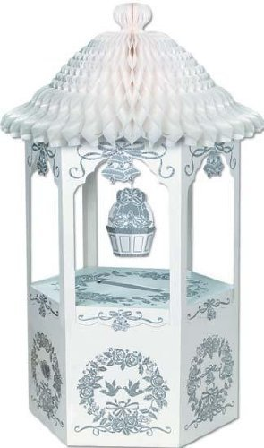 Honeycomb Bell Top Decorated Wishing Well Wedding Card and Money (Wishing Well Wedding Card)